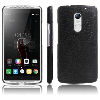 For Lenovo Vibe P1M P1MA40 P1MA50 Crocodile PU Leather Skin HardPlastic Back Cover Phone Bag Case - intl