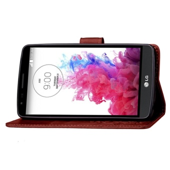 for LG G3 Stylus Case Cover - Classic Fashion Style Wallet FlipStand PU Leather Phone Case - intl - 5