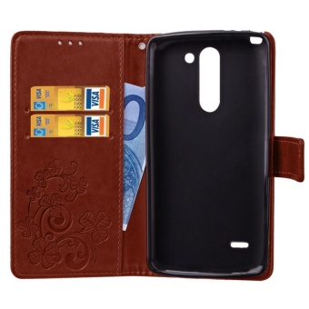 for LG G3 Stylus Case Cover - Classic Fashion Style Wallet FlipStand PU Leather Phone Case - intl - 4