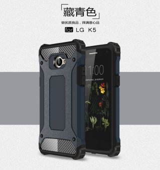 For LG K5 , Shockproof Hybrid High Impact Hard Plastic+SiliconRubber Armor Defender Case Cover - intl ...