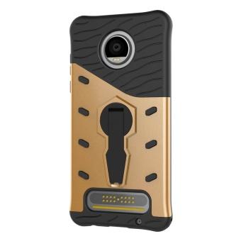 For Motorola Moto C Case TPU & PC Armor Bag Holder Book Cover For Motorola Moto C with Kickstand Heavy Duty Armor Phone Case - intl - 4