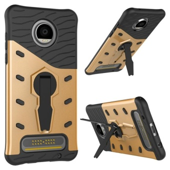 For Motorola Moto C Case TPU & PC Armor Bag Holder Book Cover For Motorola Moto C with Kickstand Heavy Duty Armor Phone Case - intl