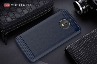 For Motorola Moto E4 Plus Brushed Carbon Armor Phone Case Soft TPUSilicone Back Cover - intl - 3