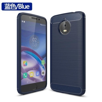 For Motorola Moto E4 Plus Brushed Carbon Armor Phone Case Soft TPUSilicone Back Cover - intl - 2