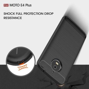For Motorola Moto E4 Plus Carbon Fiber Brushed Texture Slim TPU Back Case (Navy) - intl - 5