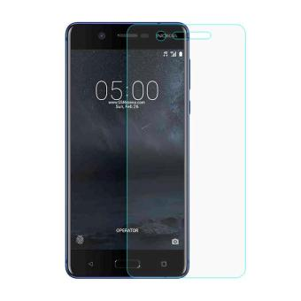 For Nokia 5 Mobile Tempered Glass Screen Protector Film 0.3mm (Arc Edge) - intl