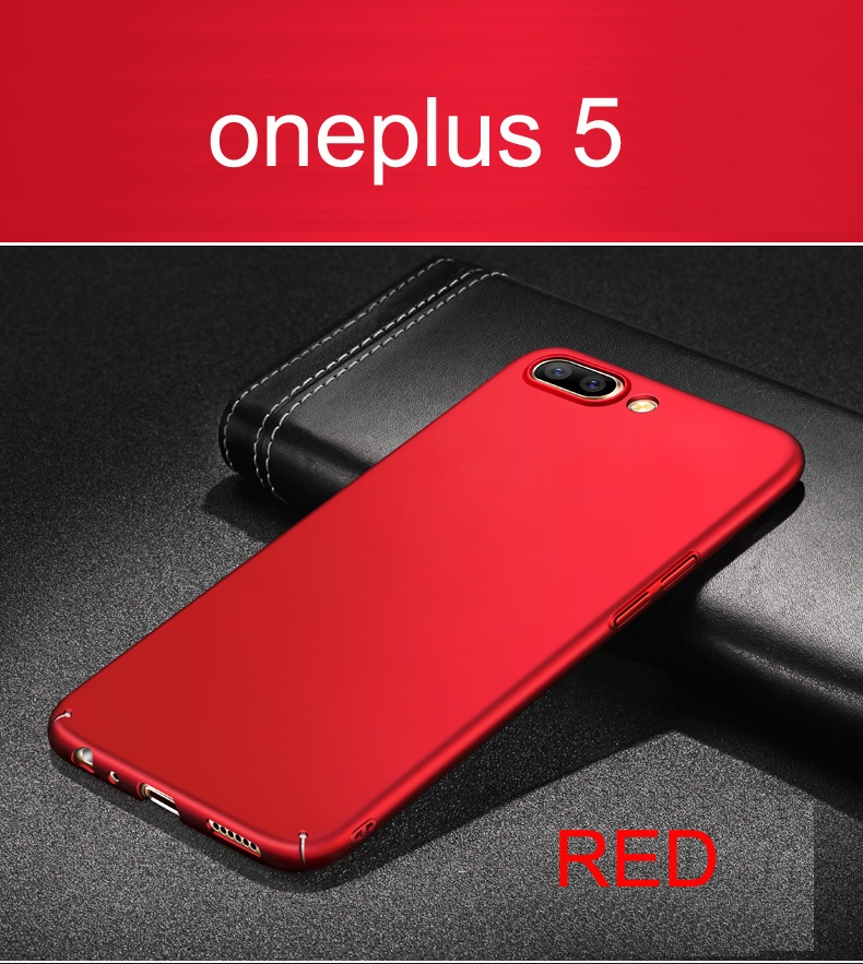 For Oneplus 5 Case cover original full protection red one plus 5case ultra thin fitted hard ...