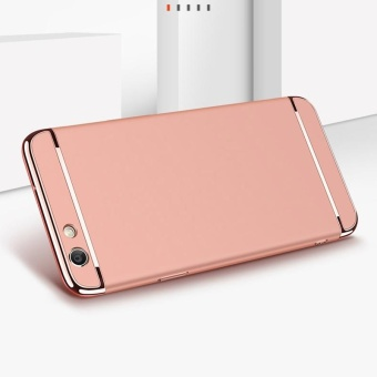 For OPPO F1S A59 phone Case + tempered glass /OPPO F1S A59 Ultra Thin Chromed 3in1 Hybrid Armor phone shell Shockproof Hard PC Back Case with OPPO F1S A59 Anti Blue-Ray Eye Protect Full Cover Tempered Glass Screen Protector Film - intl - 4