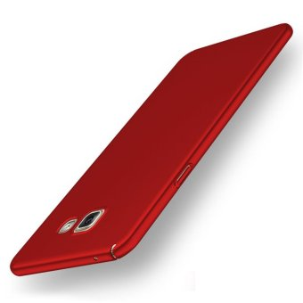 For Samsung Galaxy A5 (2016) A510 Full Body Hard PC Smooth Grip Back Case Cover (Red) - intl