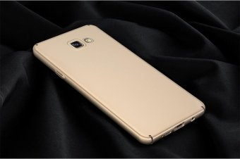 For Samsung Galaxy A7 (2016) A710 Full Body Hard PC Smooth Grip Back Case Cover (Golden) - intl - 4
