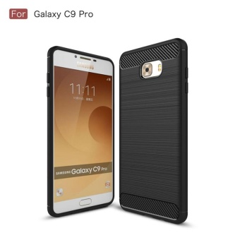 For Samsung Galaxy C9 Pro Carbon Fiber Shockproof Case/Ultra Slim Resilient Drop Protection Anti-Scratch Back Cover for Samsung Galaxy C9Pro - intl