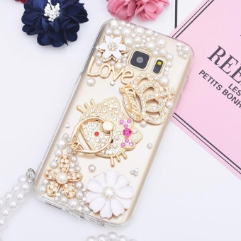 For Samsung Galaxy C9 Pro Casing Handmade Phone Cover Lady CaseMobile Phone Cases With Ring Holder - intl