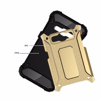 for Samsung Galaxy J1(2016) & J120 [Steel Armor] 2in1 CarbonFibre Premium Soft TPU + Hard PC Hybrid Back Cover Cell Phone ArmorCase Shockproof - intl - 5