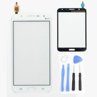 For Samsung Galaxy J7 J700 J700F J700H White Touch Glass Lens PanelScreen Digitizer Replacement Parts+tools+Adhesive - intl