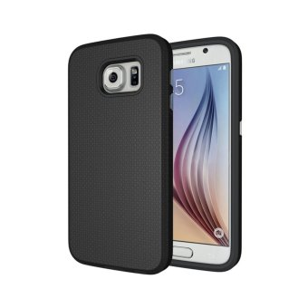 For Samsung Galaxy S6 G9200 Ultra Slim Anti-Slip Shockproof PhoneBack Case Cover (Black) - intl - 3