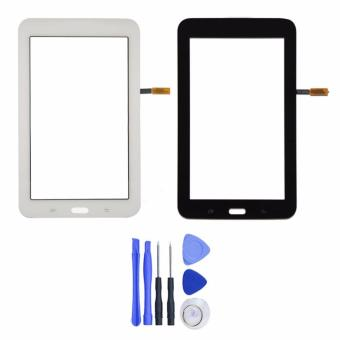 For Samsung Galaxy Tab 3 Lite SM-T113 / T113 White Touch Screen Panel Sensor Lens Glass Replacement free tools & Frame adhesive - intl