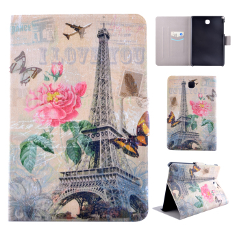 For Samsung Galaxy Tab A 8.0 inch SM-T350 SM-T355C PU Leather FlipStand Case Cover with Magnetic Closure - Eiffel Tower