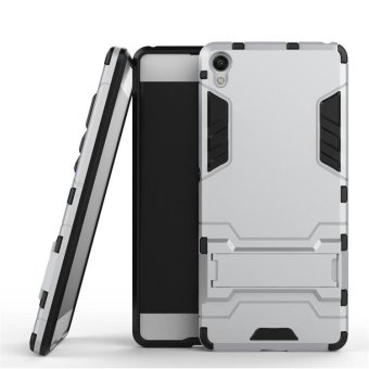 For Sony Xperia XA Case Robot Armor Case Hybrid Rugged SiliconRubber Hard Back Phone Cover For