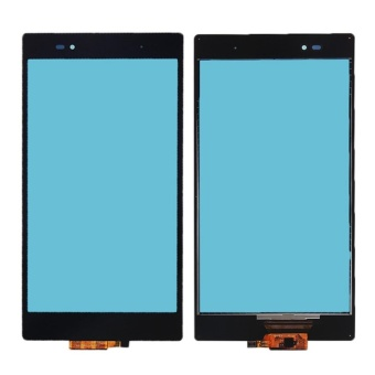 For Sony Xperia Z Ultra XL39h XL39 Black Front Outer Glass Lens Touch Screen Digitizer Panel Replacement Parts - intl