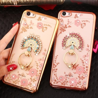For VIVO V5s Soft Phone Casing Shockproof Phone Case Cover Phonecase With Ring Holder - intl - 4