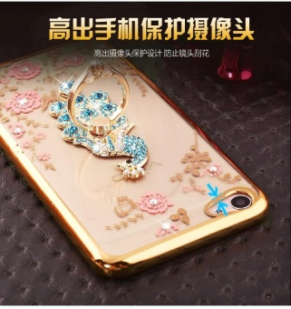 For VIVO V5s Soft Phone Casing Shockproof Phone Case Cover Phonecase With Ring Holder - intl - 3
