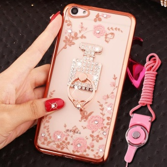 For VIVO V5s Soft Phone Casing Shockproof Phone Case CoverPhonecase With Ring Holder - intl