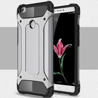 for Xiaomi Mi Max [Steel Armor] 2in1 Carbon Fibre Premium Soft TPU+ Hard PC Hybrid Back Cover Cell Phone Armor Case Shockproof - intl