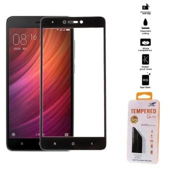 For Xiaomi Redmi Note 4X Full Screen Cover Mobile Tempered GlassProtector Film Silk Print - Black