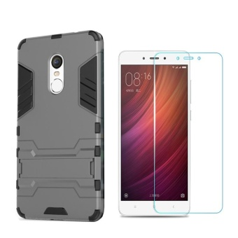 For Xiaomi Redmi Note4(snapdragon)/ Note 4X(Snapdragon version)Armour Hard Plastic Phone Case+Anti Blue-Ray Eye Protect Tempered Glass / Anti falling Phone Shell/Shockproof Phone cover /Phone Protector Casing - intl