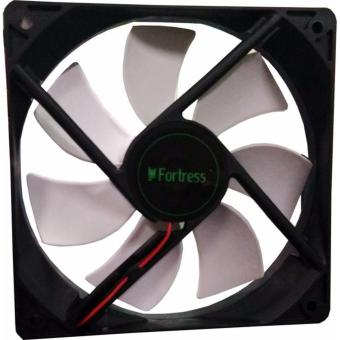 FORTRESS Computer PC Cooling 12cm Fan (WHITE)