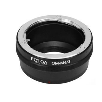 Fotga Adapter for Olympus OM Lens to Panasonic Micro 4/3 M4/3 Camera (Black) (Intl)