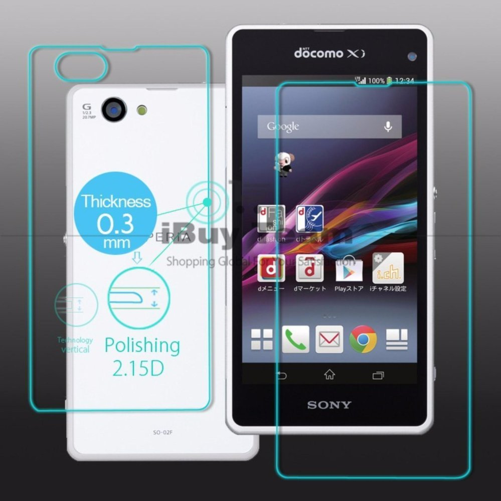 Front Back Tempered Glass Full Body Screen Protector FOR Sony Xperia Z1 & Tangan) D5503
