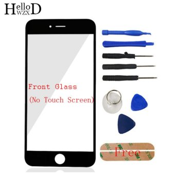 Front Outer Screen Glass Panel Lens Replacement + Free Tools Kit For Apple iPhone 6 6S 4.7inch - Black - intl