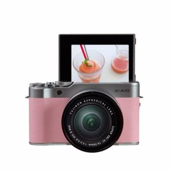 Fujifilm X-A10 with 16-50mm Pink