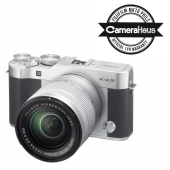 Fujifilm X-A3 Kit with Fujinon XC 16-50mm f/3.5-5.6 OIS Len's (Silver) with Free 8GB SD Memory Card
