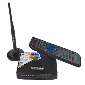 Fukuda FDB7805 Digital Box with Built-in Booster on Antenna (Black) - 2