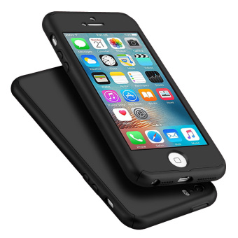 Full Body Protective Matte Case for Apple iPhone SE / 5S / 5 (Black)