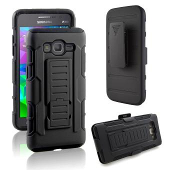 Full Body Shockproof Heavy Duty Rugged Case With Locking BeltSwivel Clip & Kickstand For Samsung Galaxy A5 A500F A500M A500H2015 - intl