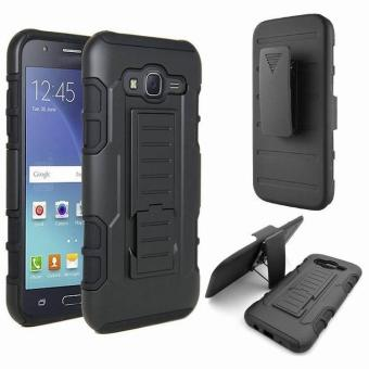 Full Body Shockproof Heavy Duty Rugged Case With Locking BeltSwivel Clip Kickstand For Samsung Galaxy J7 J700 2015. [Not FitGalaxy J7 J710 2016] - intl