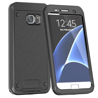 Full Body Touch ID Waterproof Shockproof Case for Samsung Galaxy S7Edge - Black