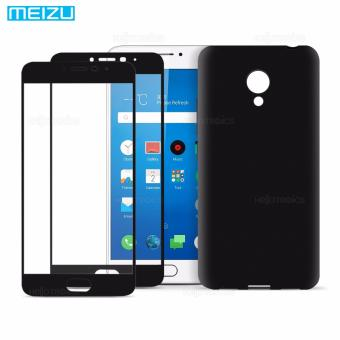 Full Cover Carbon Fiber Soft EdgeTempered Glass Set of 2 with JellyCase for Meizu Metal 3 (Black) Price Philippines