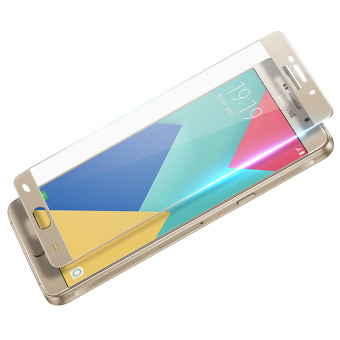 Full Cover Tempered Glass Screen Protector Guard for Samsung GalaxyA9 (Gold)