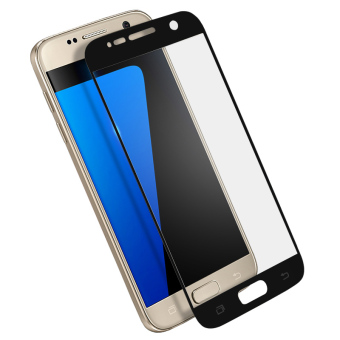 Full Cover Tempered Glass Screen Protector Guard for Samsung GalaxyS7 (Black)