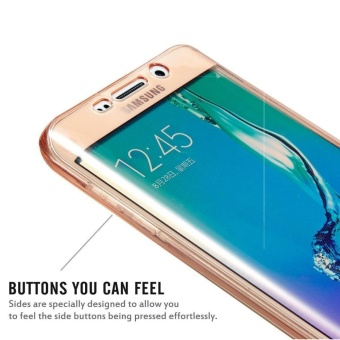 Full Coverage 360 degree Front and Back Protective Case ShockproofTPU Gel Transparent Clear Cover for Samsung Galaxy S7 Edge - intl - 4
