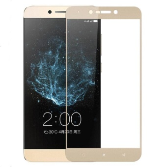 Full Covered Curved 9H Hardness Anti Explosion Tempered GlassScreen Protector for Letv LeEco Le Pro 3 X720 (Gold) - intl