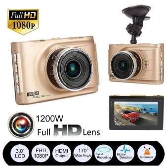 Full HD 1080P Car DVR CCTV Dash Camera G-sensor Vehicle Video Cam Recorder - intl