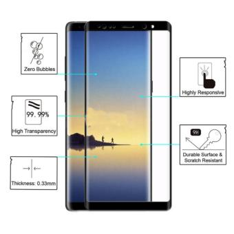 Full Tempered Glass Protector for Samsung Galaxy Note 8 (Black)