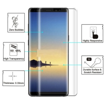 Full Tempered Glass Protector for Samsung Galaxy Note 8 (Clear)