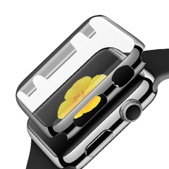 Fully Coverage Watch Screen Protector Shell PC PlatingAbrasion-resistant Anti-scratch Protective Cover with Bumper forApple Watch iWatch Series 1 38mm Gray - intl
