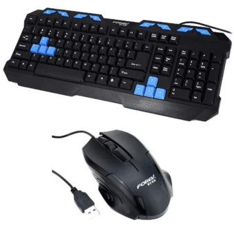 FV-237 Wired USB GAMING Keyboard and Mouse Set(Black)